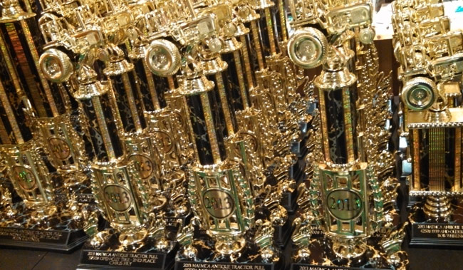 Trophies from On Fire Promotions
